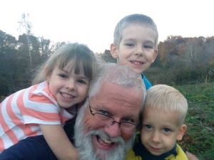 Papa with some of the grandkids